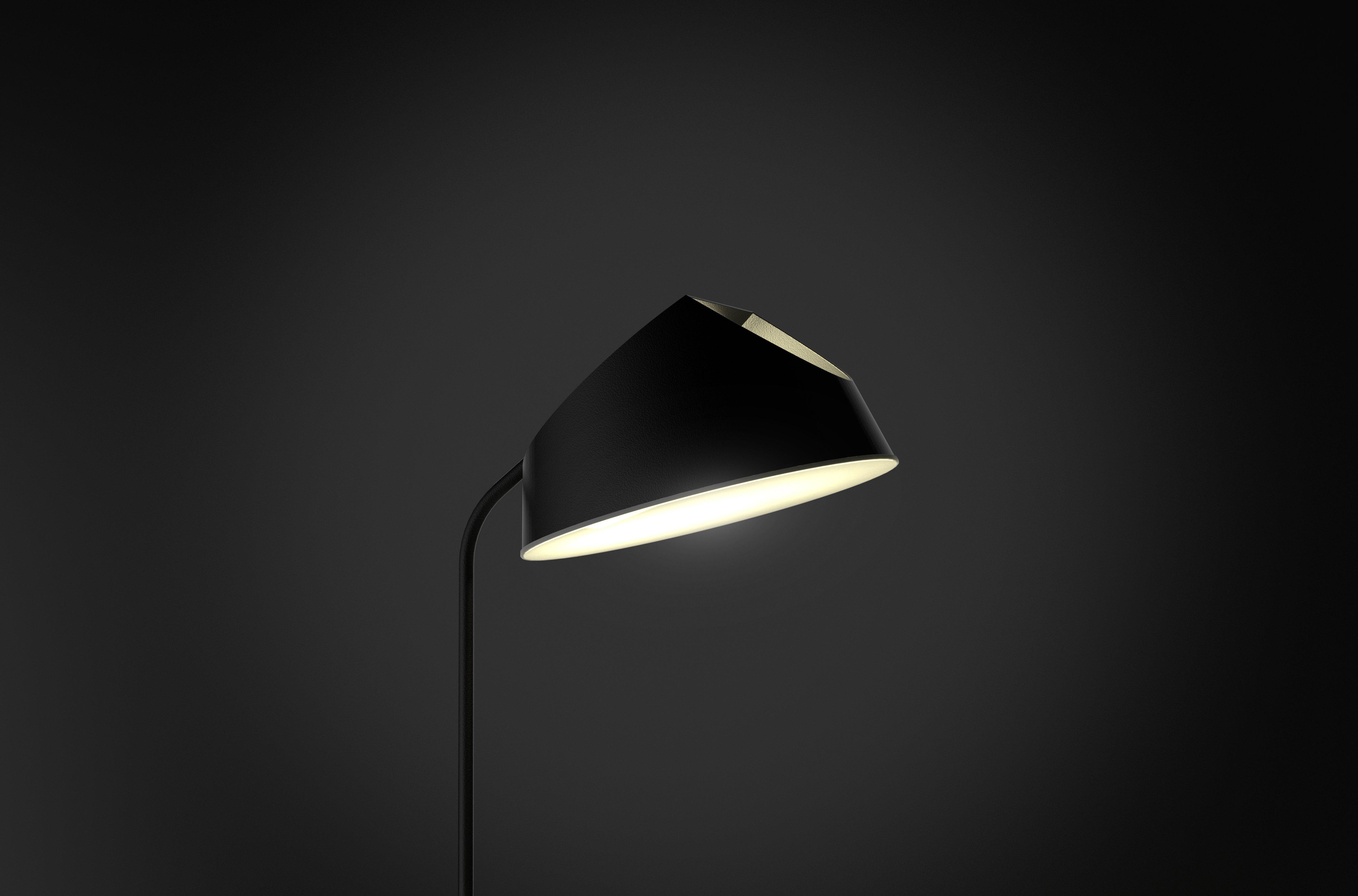 Minimalista lampara diseño detalle negro