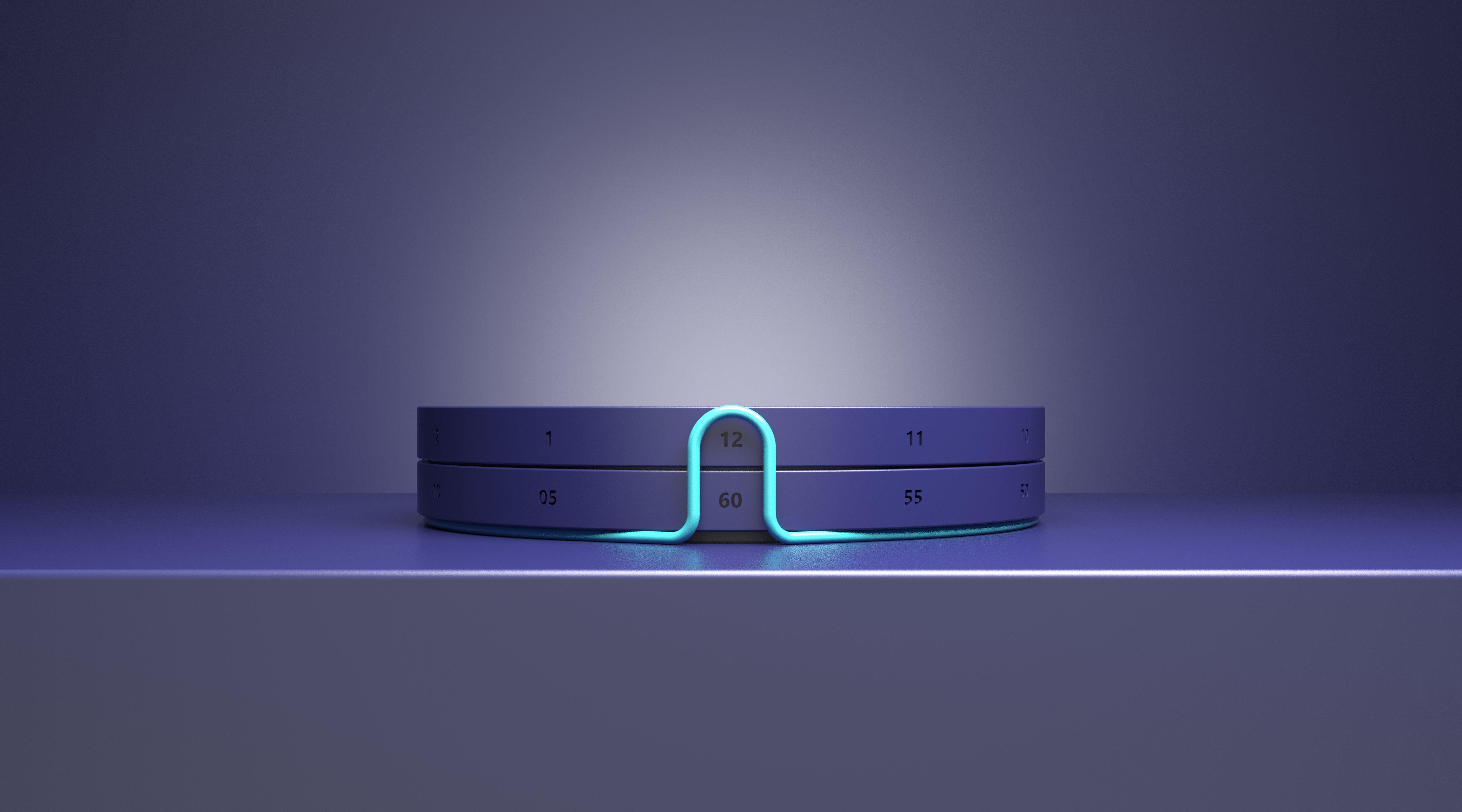 Tendencia 80s Neon Reloj Diseño
