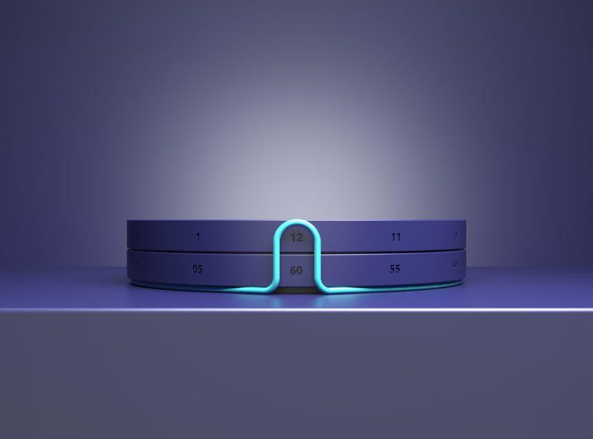 diseño tendencia ochentas neon reloj