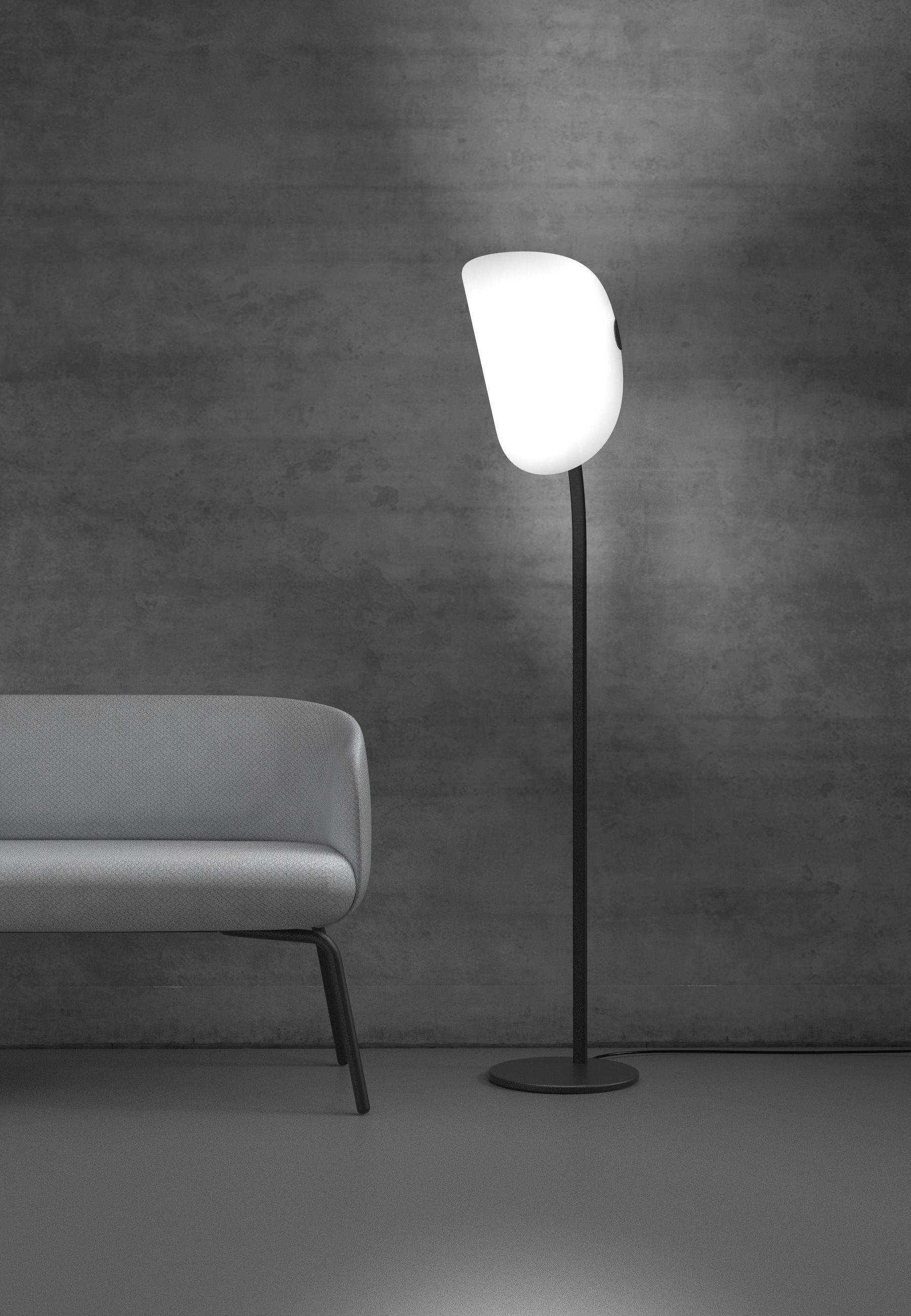 lampara pie minimalista diseño