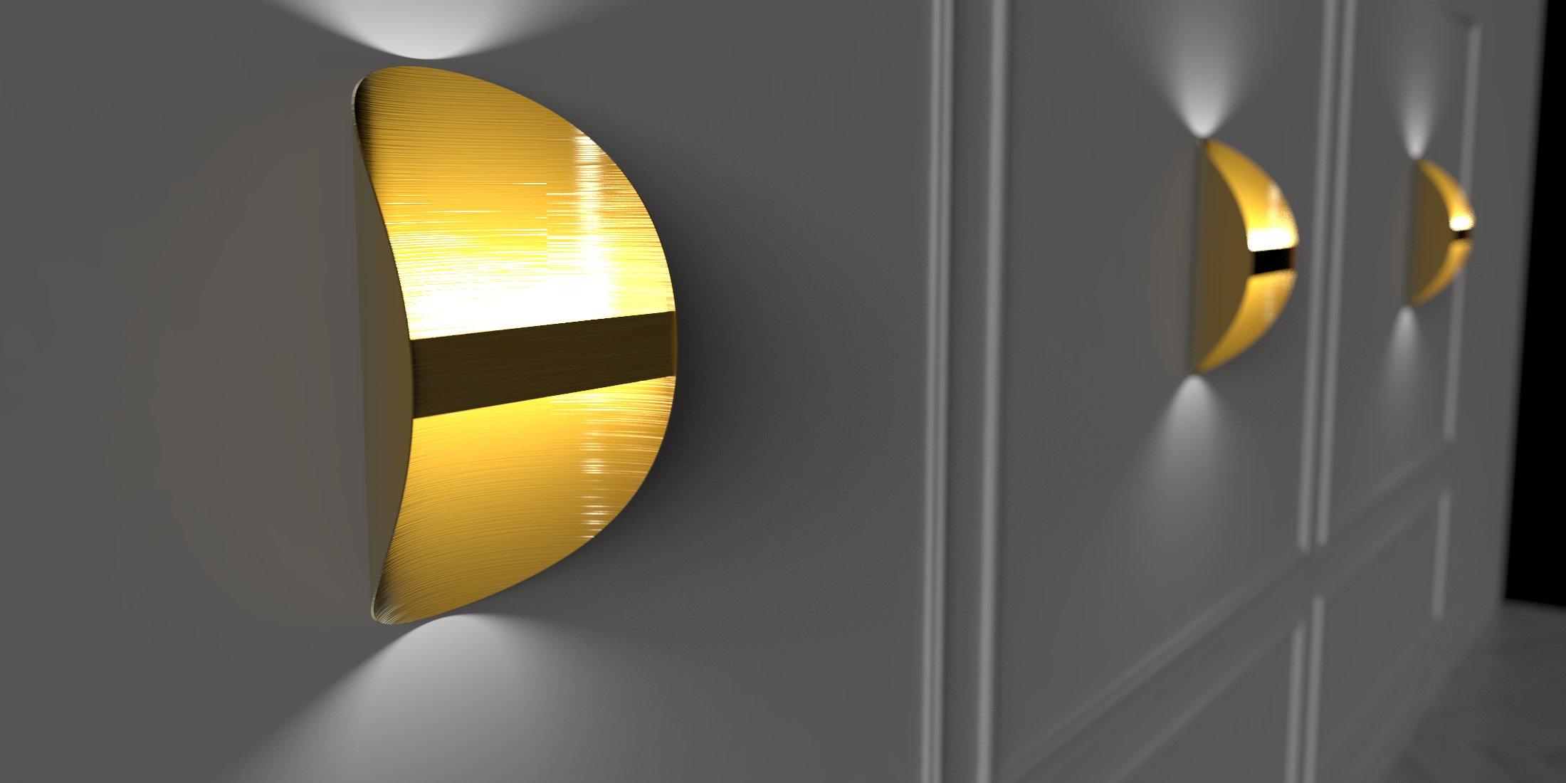 Aplique laton diseño iluminacion deco