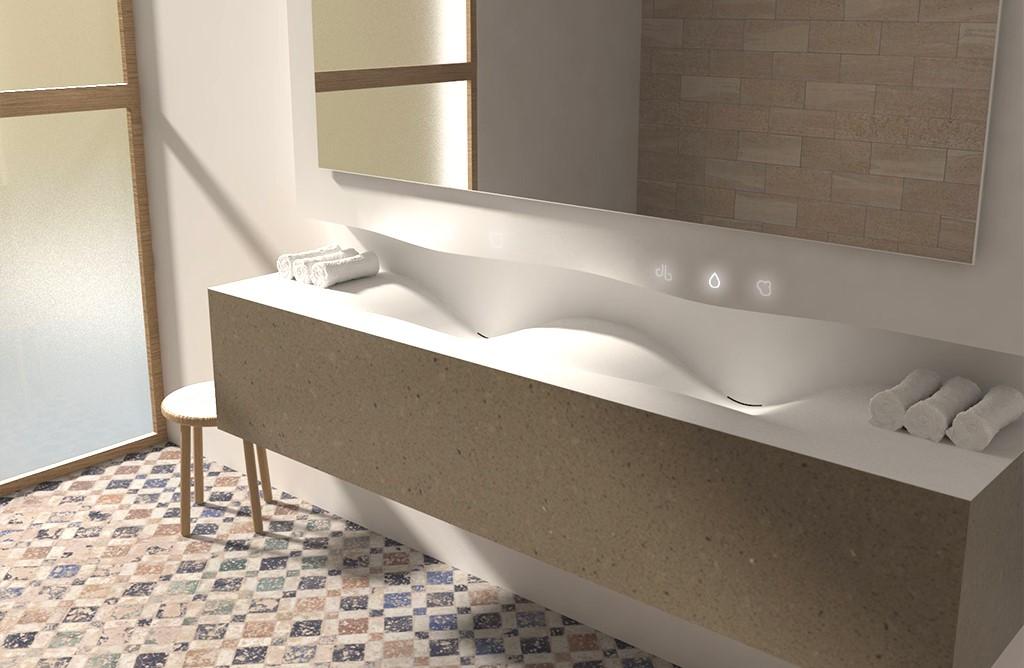 krion diseño baño restaurante
