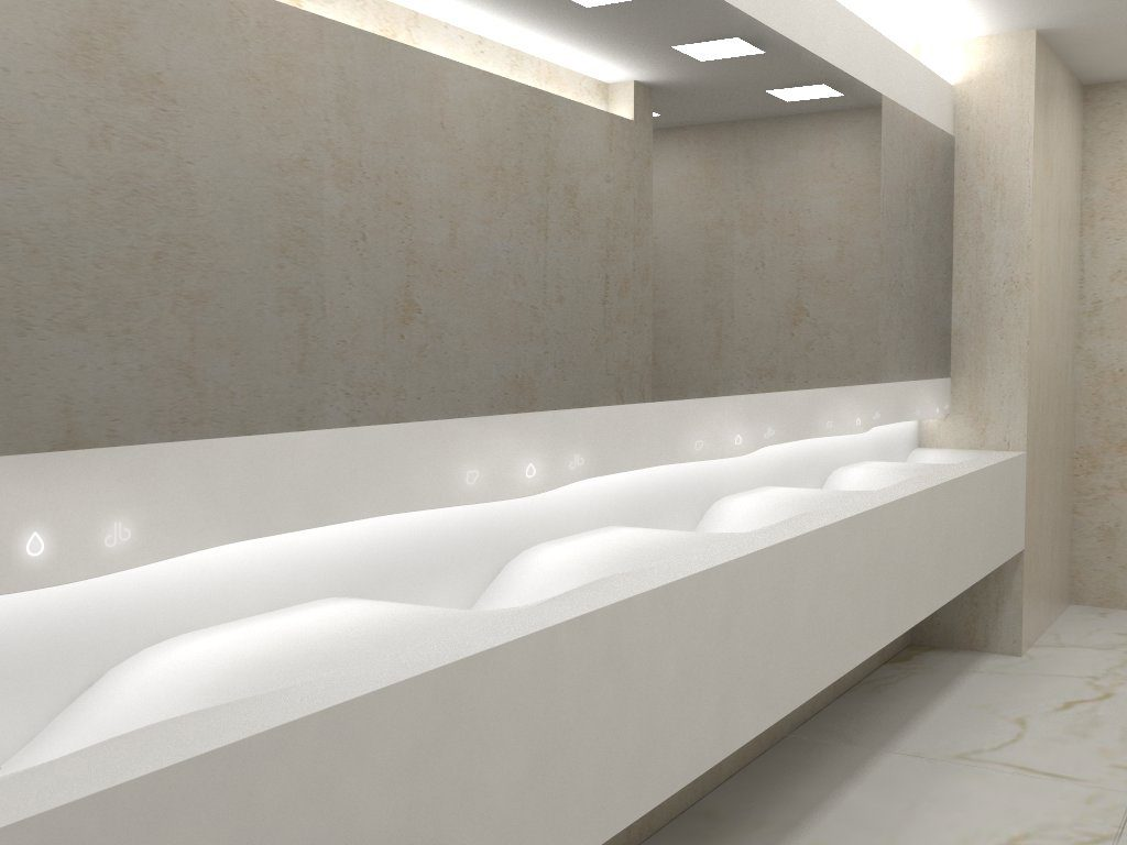 diseño baño contract krion marble