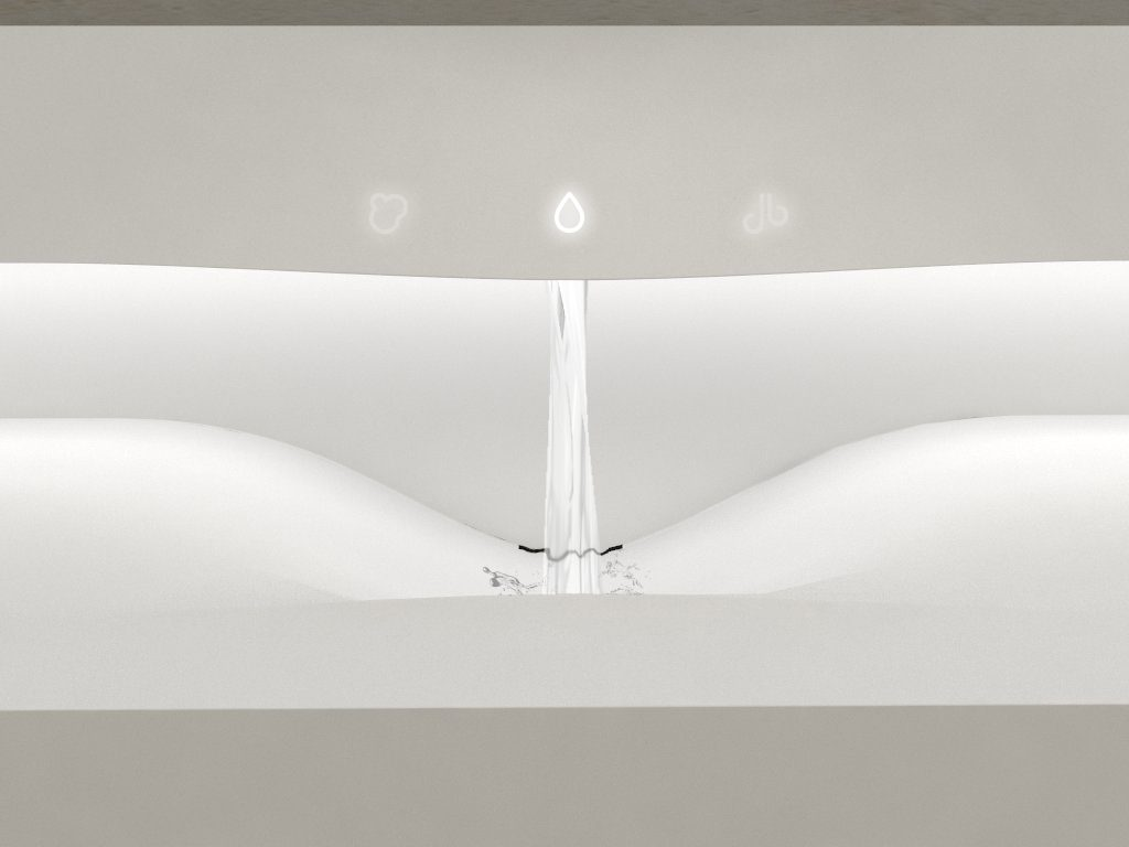 diseño baño superficie solida