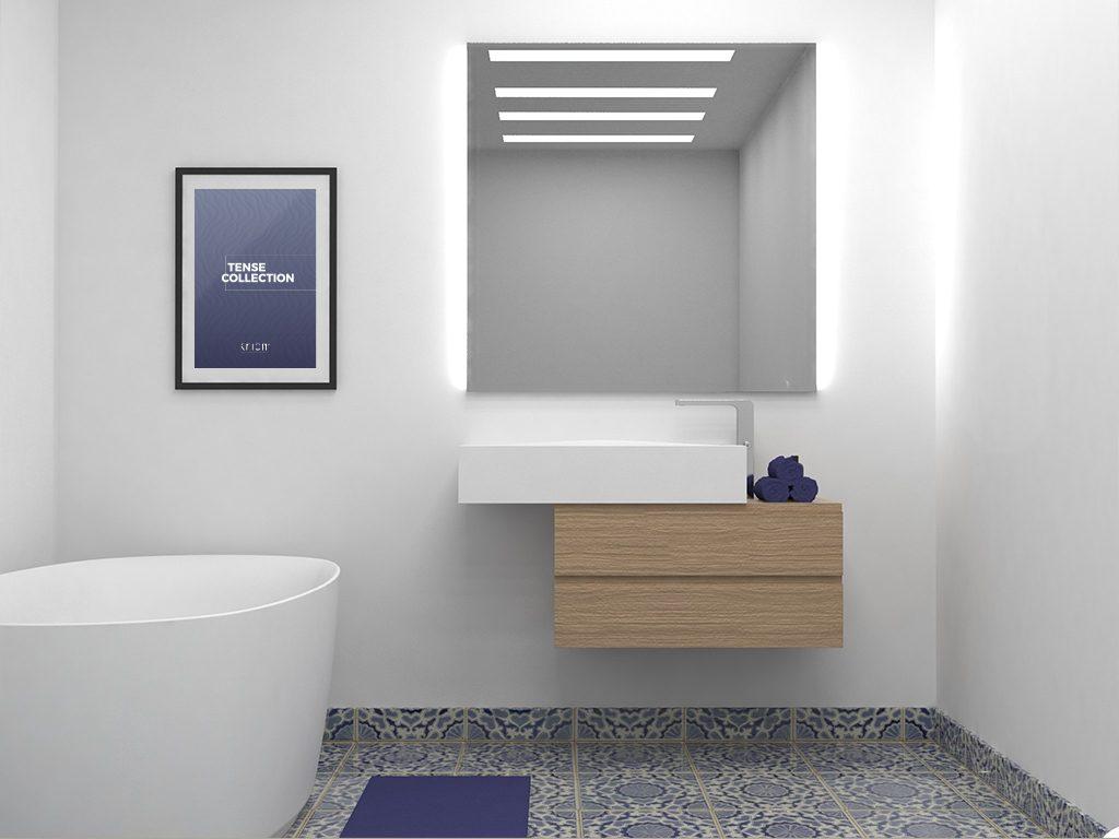 diseño baño solid surface