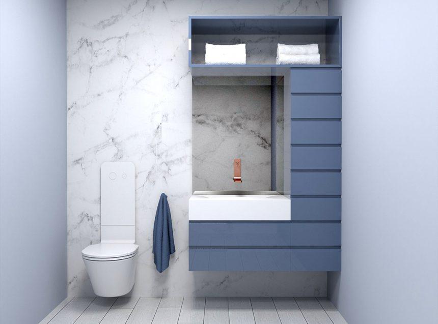 diseño baño hogar pequeño