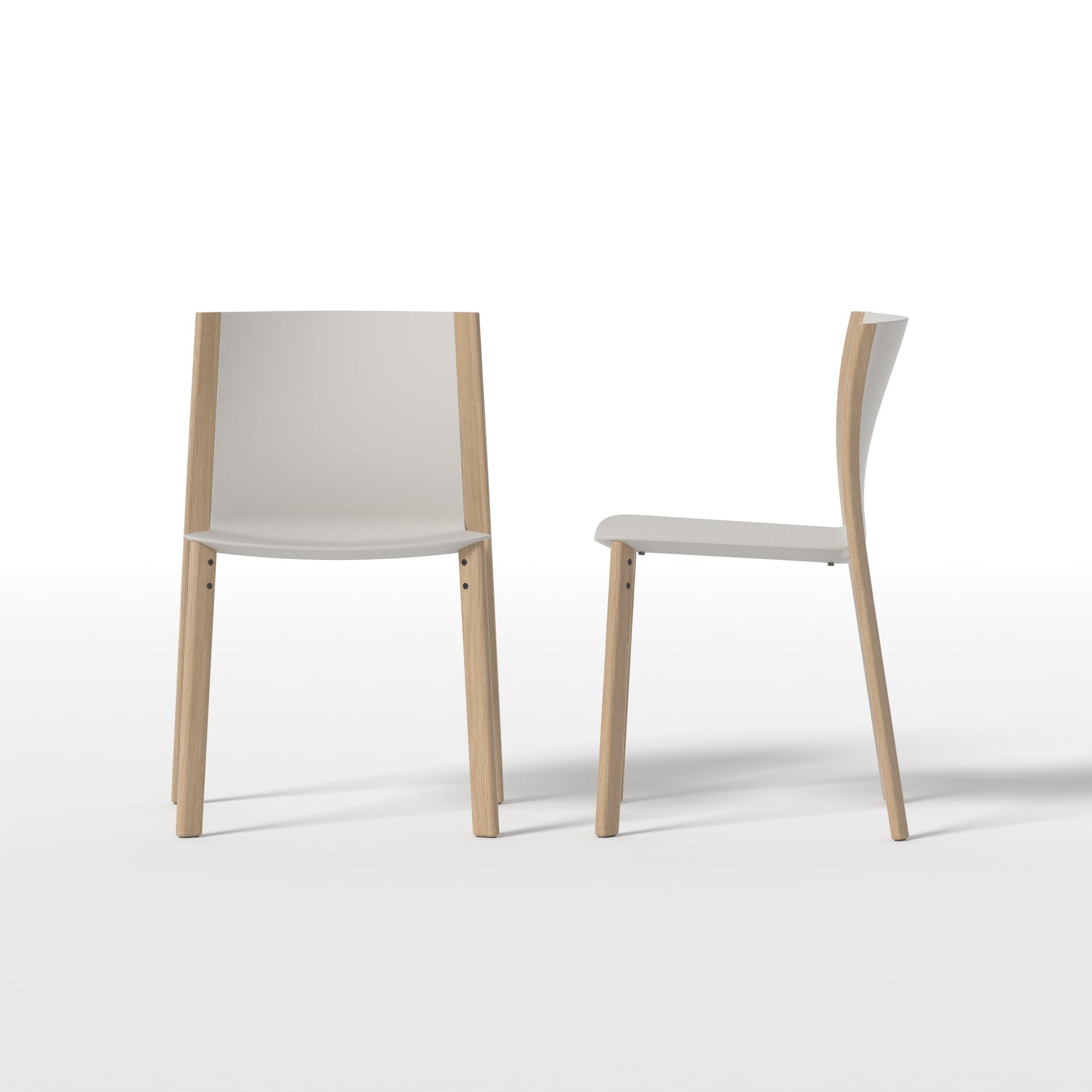 silla diseño render madera plastico