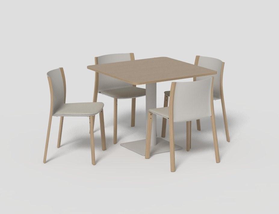mesa cuatro sillas diseño