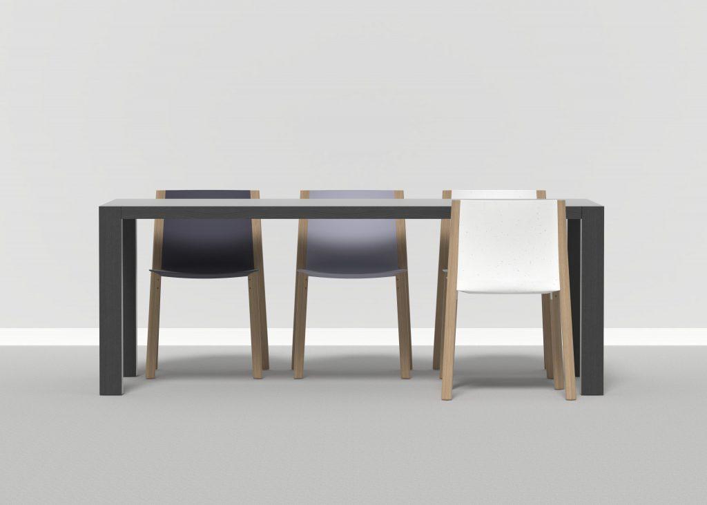mesa sillas composicion render diseño