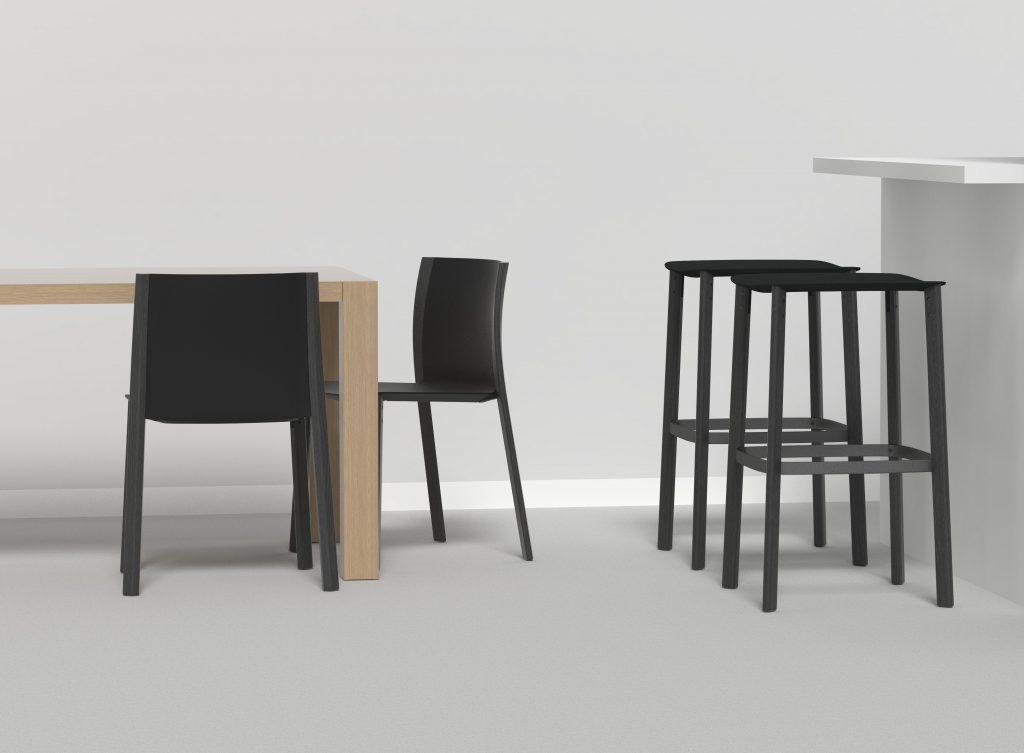 taburetes sillas diseño mobiliario madera