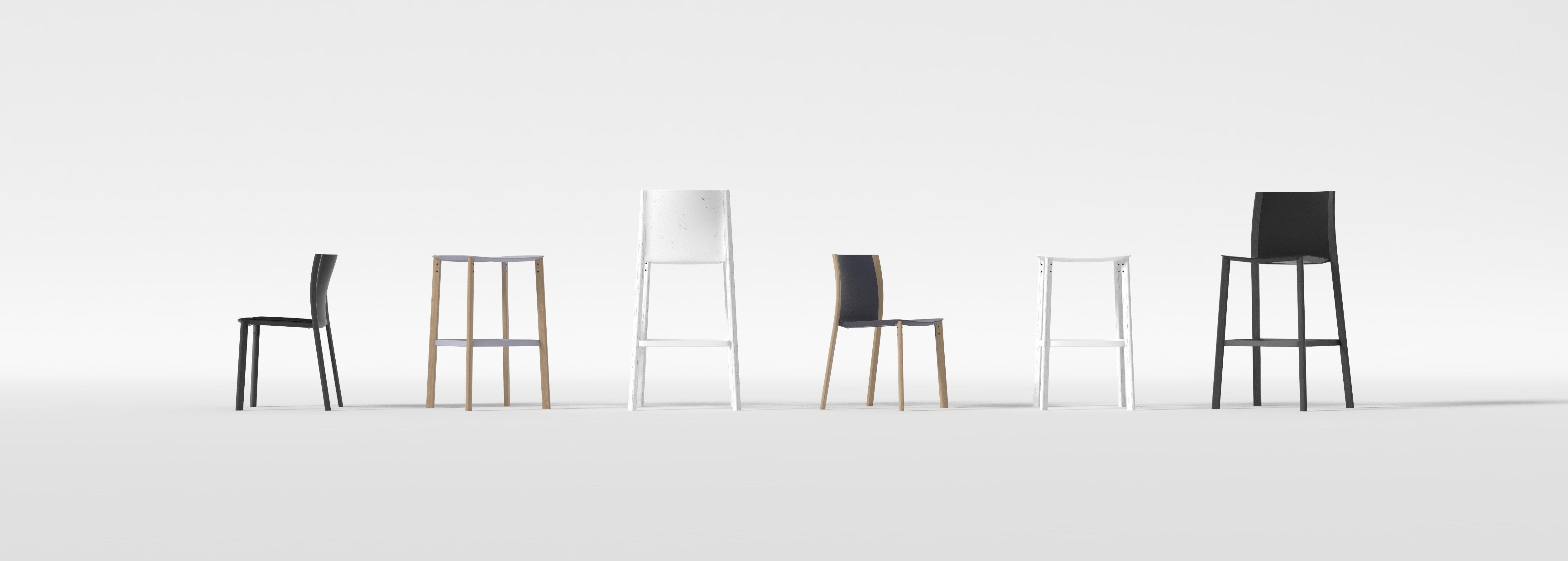 diseño coleccion silla taburete restaurante