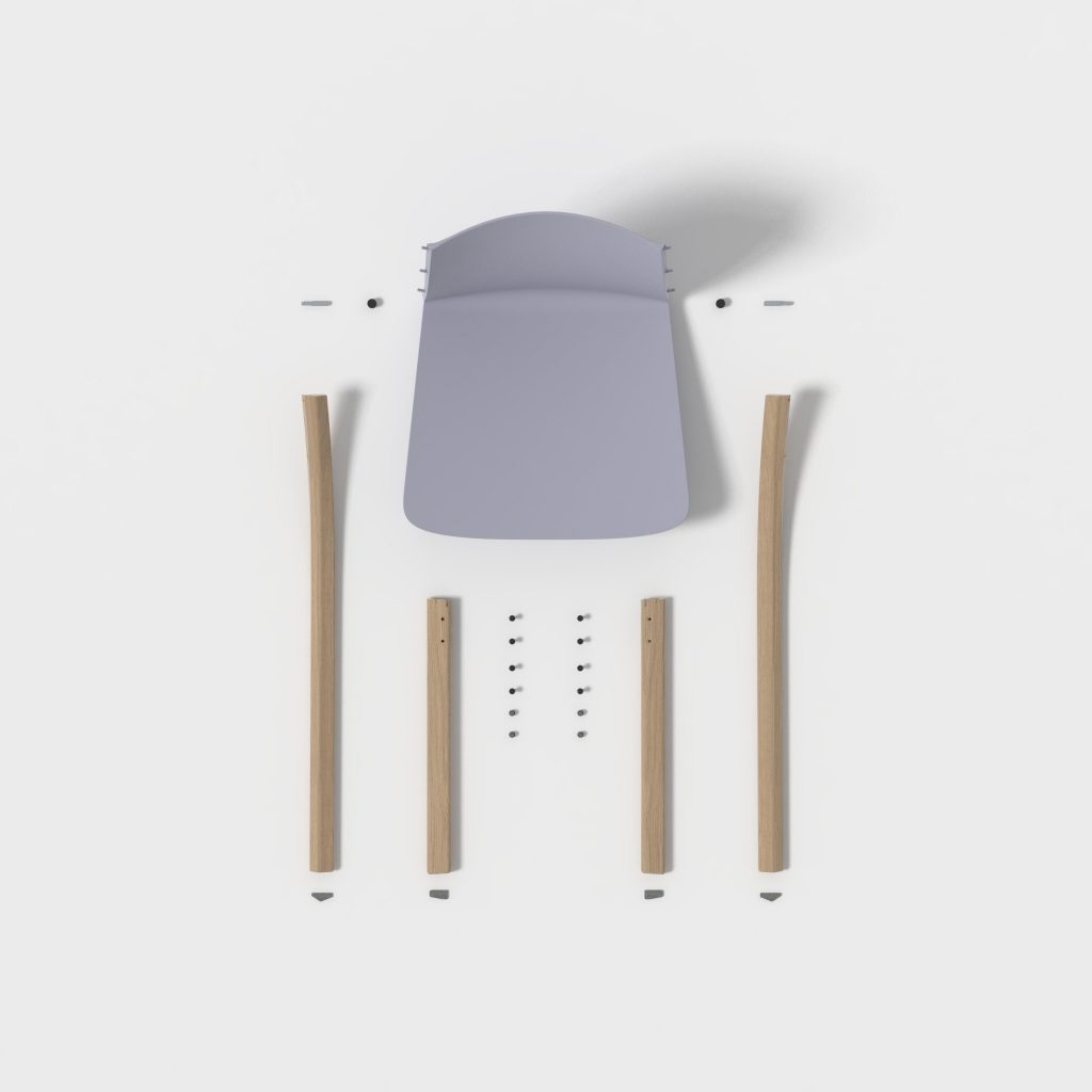 desmontable silla flat pack diseño