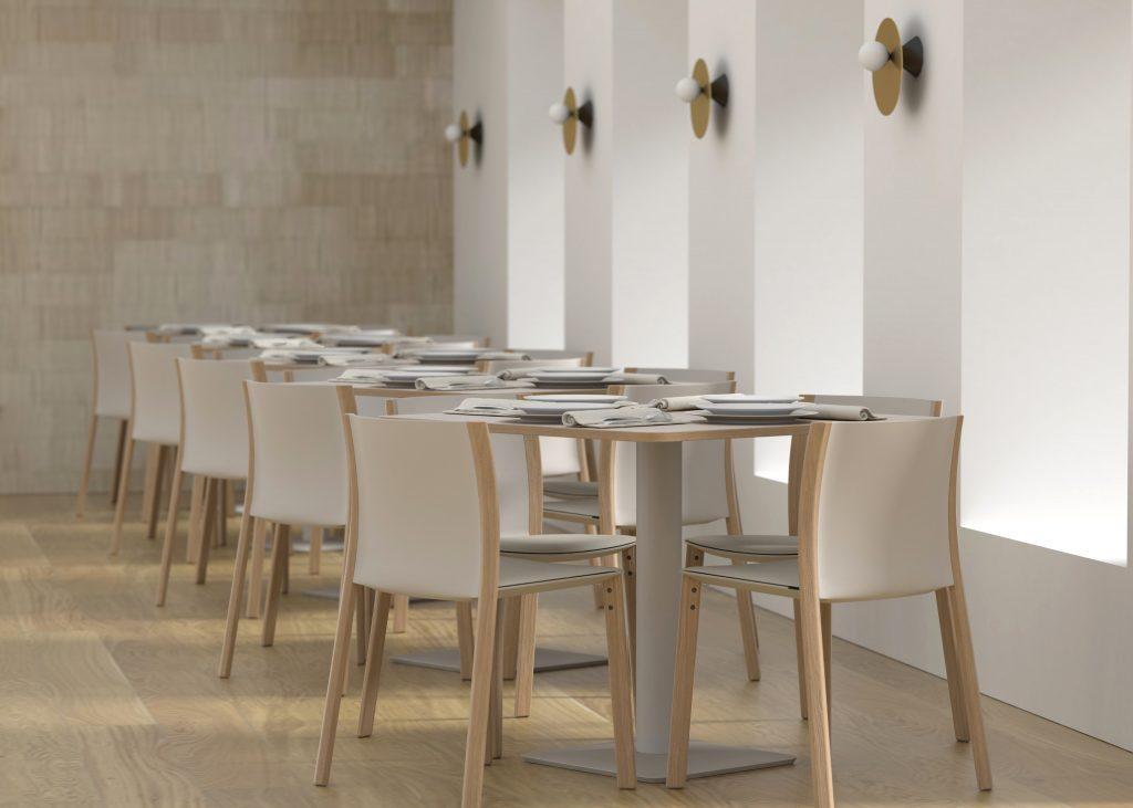 diseño interior restaurante render silla mobiliario