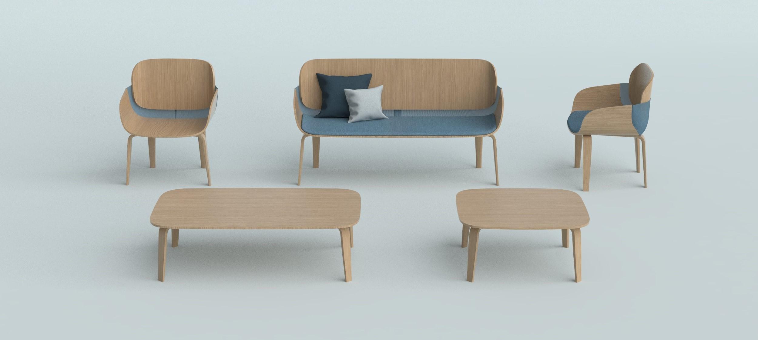 diseño mobiliario madera mesa banco silla